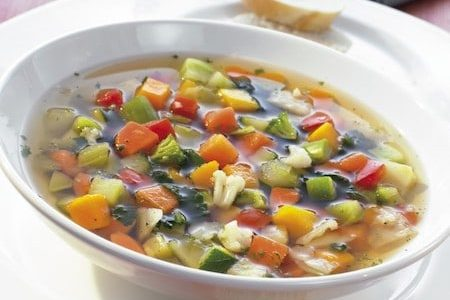 big minestra is minestrone in Italy