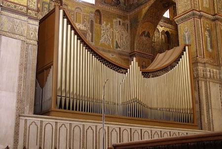 Mick Jagger asked to hear the organ in the Duome of Monreale