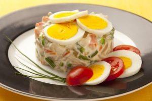 insalata russa, eighties with mayonnaise