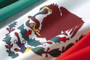 prickly pears on the Mexican flag