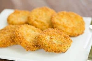 American style green fried tomatoes