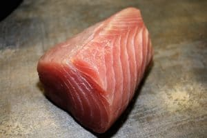 chunk of tuna to be marinated